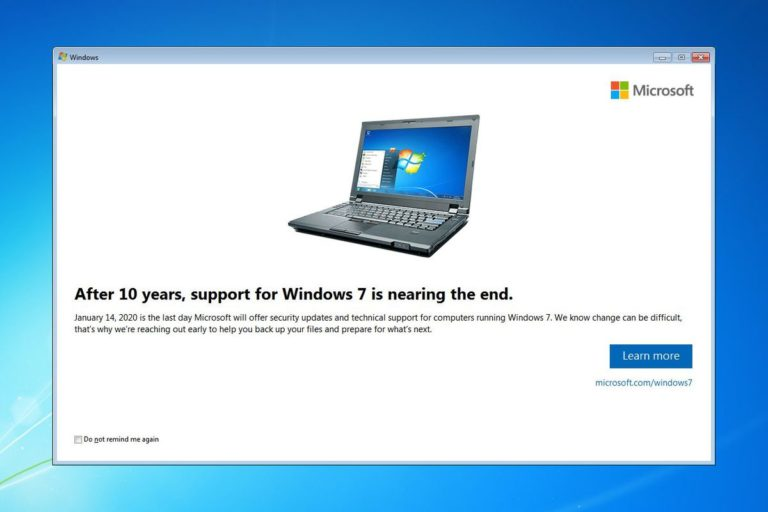 Windows 7 End of Support Life